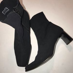 Paul Green black ankle boots